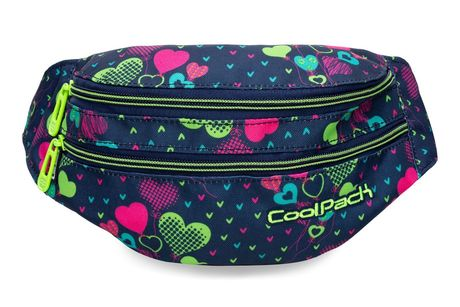 Чанта за кръста COOLPACK - MADISON - LIME HEARTS