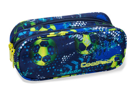Несесер с два ципа COOLPACK - CLEVER - FOOTBALL BLUE