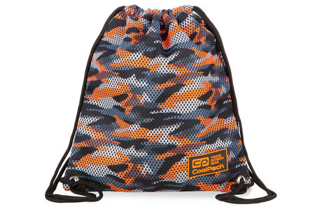 Спортна торба  COOLPACK - SPRINT LINE - CAMO MESH ORANGE