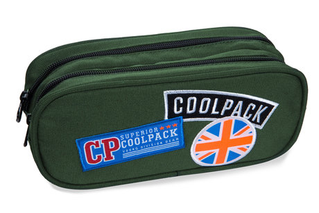 Несесер с два ципа COOLPACK - CLEVER - (BADGES GREEN)